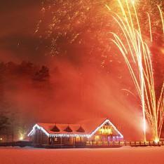Новогодний салют, поселок Николино